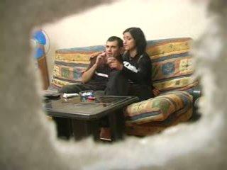 Amatør tyrkisk kone med russisk mann mens hubby was bort
