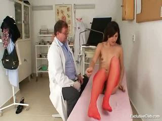 Dirty Gyno Doctor Fingers Cunny Of Hot Brunette