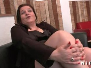 BBW French mature gets her ass hammered