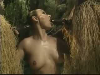 mulher, africano, americano
