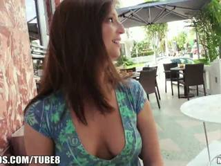 brunette, flashing, pov
