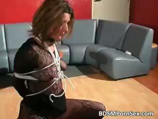 Dirty Blonde Brunette Bitch Gets Tied Part5