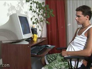 B-y uitandu-se homosexual video și stroking de pe