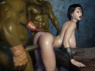 2 geants baisent une jolie fille, volný porno 3c