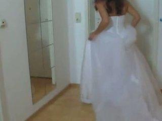 Chica en su boda vestido follada duro 1