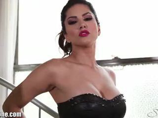 SunnyLeone's after party striptease here!