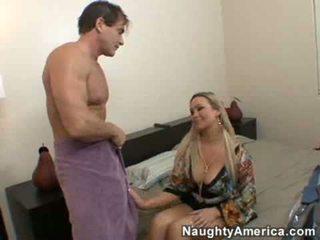 cưỡi, ngực lớn, ngực