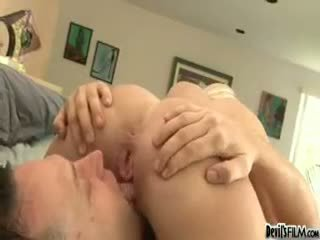 Sexy Young Slut Sucks And Fucks Her Stepdad Like An Old Pro!