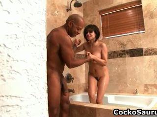 Kecil gadis getting double penetrated oleh besar hitam titit gratis