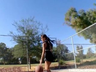 Busty asian gets fucked by her basketball coach