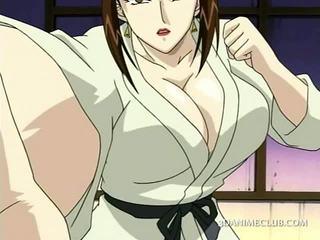 Hentai sexo escrava gets quente mamilos teased em