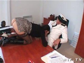 Unshaved french slut facialized