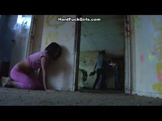 Woman caught and fucked in an abandoned house