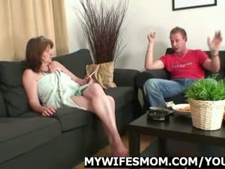 He bangs mother in law after shower