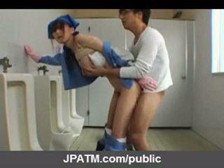 Japonez public sex - asiatic adolescență exposing exterior part03