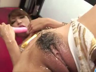 Diildo sensations for curvy ass AsianAya Sakuraba