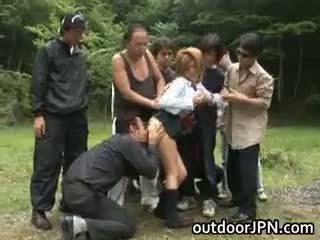 japonês, sexo grupal, interracial