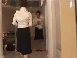 3 biele holky v japonské masáž parlor