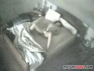 Mastrubacija zreli ženska being spied na