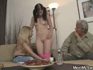 His GF and Mature Couple Threesome, Free Porn 42