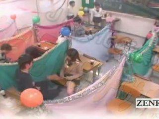 Subtitled japón schoolgirls clase masturbation cafe