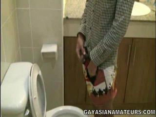 Mano gėjus azijietiškas urinate ir sperma