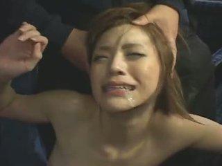 японски, на лицето, масов