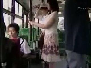 驚き hanjob 上の バス とともに double 幸せな ending