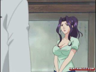 แม่ ญี่ปุ่น เฮนไท gets squeezed เธอ bigboobs
