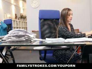 Familystrokes - ส่วนหนึ่ง เวลา ขั้นตอน ลูกสาว becomes full-time ผู้หญิงสำส่อน