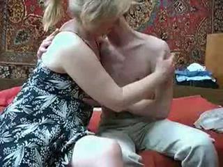 Vieux mère avec à partir de russia