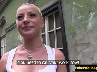 Euro Babe Fucks a Stranger for Cash, Free Porn 92