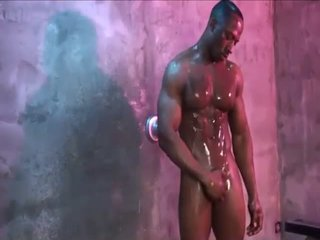 Big Dick Muscle Athlete Hot Shower