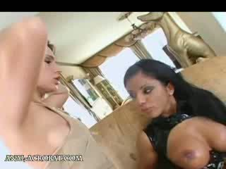 Hungry anal Three Some acrobat