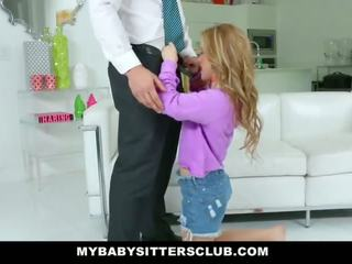 Mybabysittersclub - monada joven niñera fucks papá para venganza