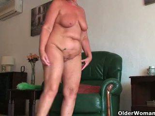 British and full figured grandma Sandi...