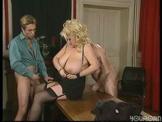 ألماني المرأة الجميلة كبيرة double مارس الجنس