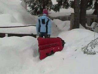 Sexy teen masturbating outdoors in the winter