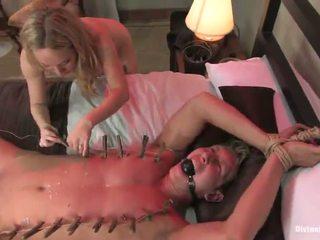 Blondýnka liška aiden starr dominates a tortures male pro pegging funtime