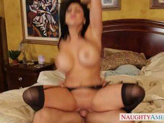 big, tits, brunette