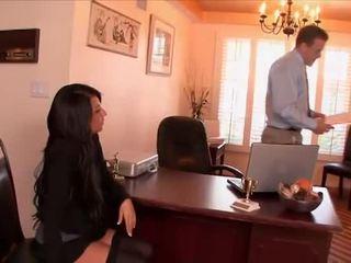Сексуальна секретарка banged по the бос
