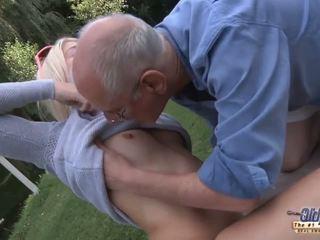 65 glassed grandpa smash fresh meat hole of S