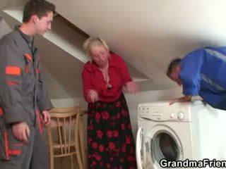 старий, 3 some, бабуся
