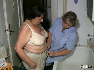 brunette, granny, fat