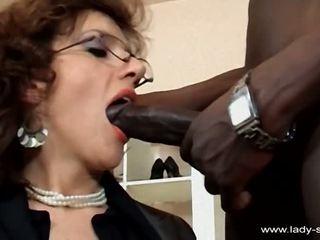 brunette, licking, bbc