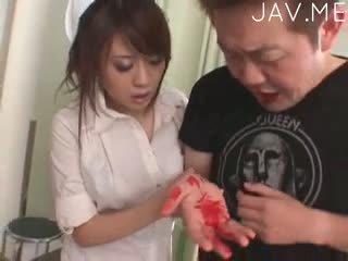 japansk, stora bröst, fotfetisch