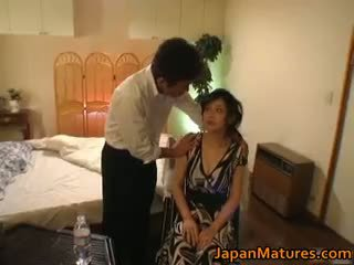 Horny Japanese Mature Babes Sucking Pa...