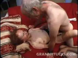 おばあちゃん, ザーメン, 3p