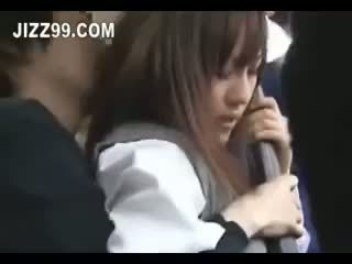 Japonesa aluna ejaculação interna fodido em autocarro 02