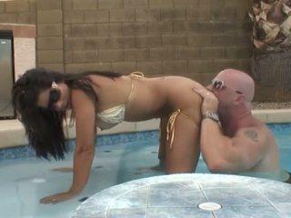 Hot Latin Milf - Pool Fuck